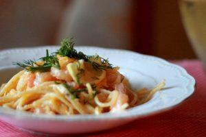 Паста с креветками по-итальянски