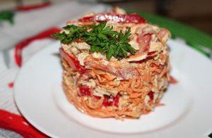 салат из грудки индейки