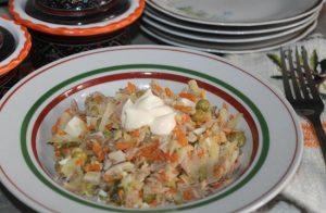 Мясной салат или, как мы привыкли его называть «Оливье»