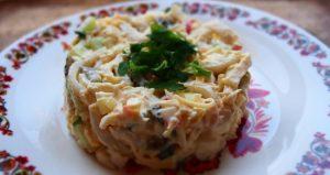 приготовления салатов с кальмарами