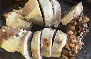 Кальмары с грибной начинкой