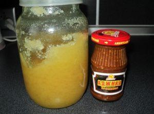 Мед с аджикой смешиваем