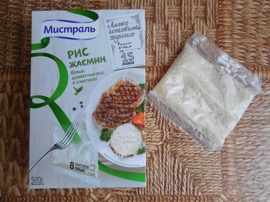 Сколько варить рис в пакетиках?